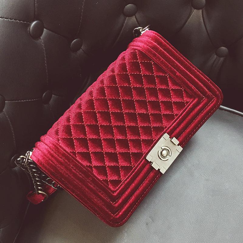 Diamond Embroidery Women S Bag Velvet Luxury Handbags